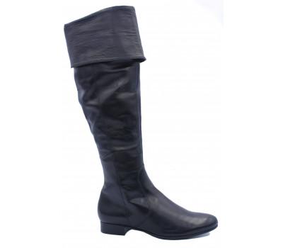 Демисезонные ботфорты Hogl кожаные черные 2-102220