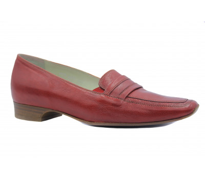 Мокасины SIOUX  красные кожаные 63093