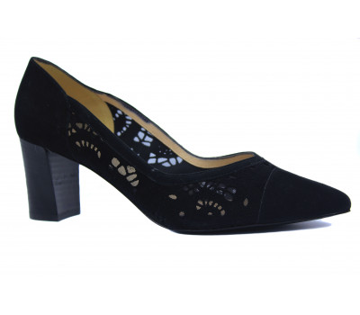 Модельные туфли Peter Kaiser замшевые черные 69509-816