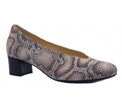 Модельные туфли Hassia серо-розовый питон  9-304936