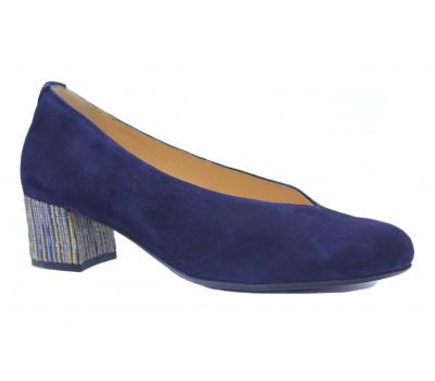 Модельные туфли Hassia синие замшевые 9-304933