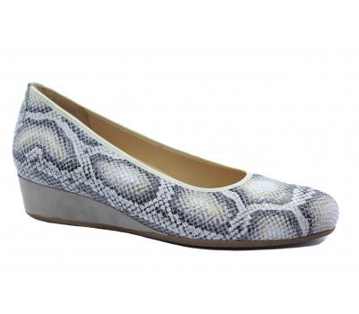 Туфли Наssia светло- серые кожаные 9-302106