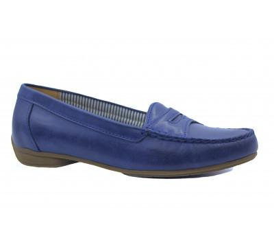 Мокасины Gabor синие кожаные 84210
