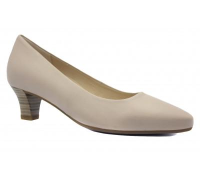 Модельные туфли Gabor кожаные светло-бежевые 42130