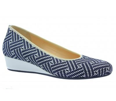 Туфли Наssia сине-белые кожаные 1-302104