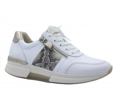 Кроссовки Gabor белые кожаные 46928