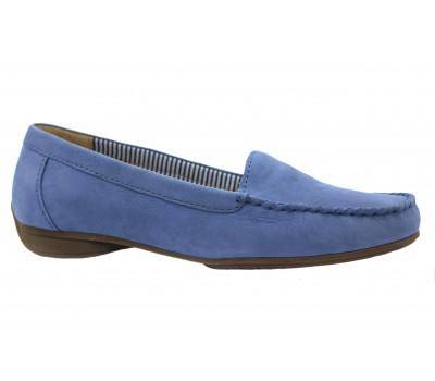 Мокасины Gabor голубые из нубука 24214