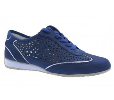 Кроссовки Gabor синие из нубука 86358