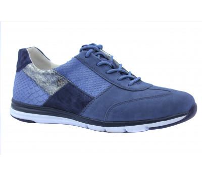 Кроссовки Gabor синие из комбинированной кожи 66306