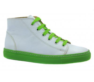 Кеды Gabor бело-зеленые кожаные 63180