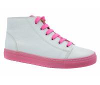 Кеды Gabor бело-розовые кожаные