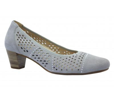 Туфли Gabor замшевые светло-серые 86184
