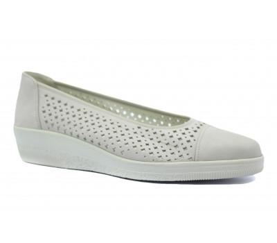 Туфли Gabor серые из нубука 46403