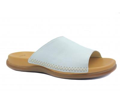 Сабо Gabor белые кожаные 03705.21