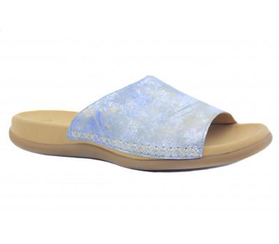 Сабо Gabor голубые кожаные 63705
