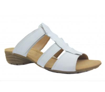 Сабо Gabor белые кожаные 84550