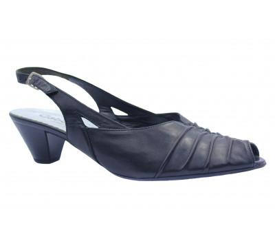 Босоножки Gabor черные кожаные 46557