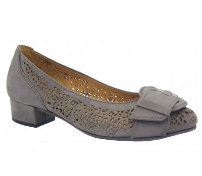 Туфли Gabor из нубука серые 66245