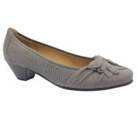 Туфли Gabor из нубука серые