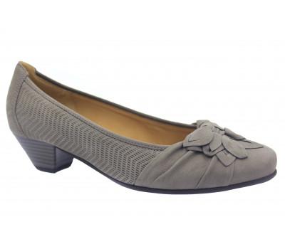 Туфли Gabor из нубука серые 65441