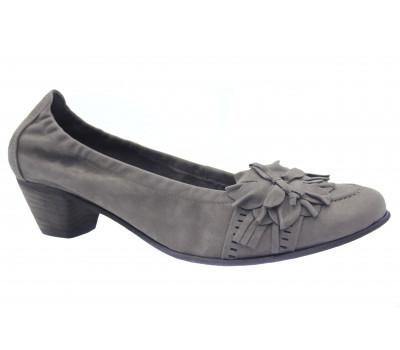 Туфли Gabor из нубука серые 61401