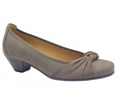Туфли Gabor из нубука серые 45441