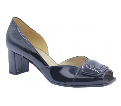 Туфли Gabor черные из лакированной кожи 81663