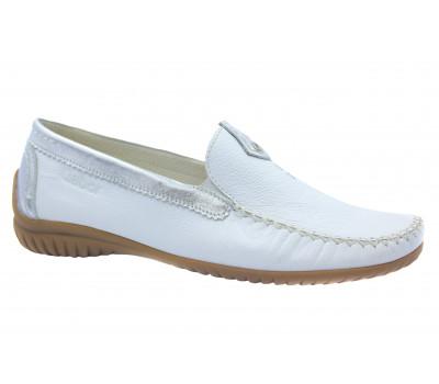 Мокасины Gabor белые кожаные 26090.50