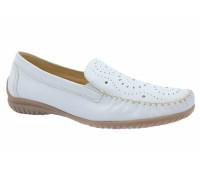 Мокасины Gabor белые кожаные