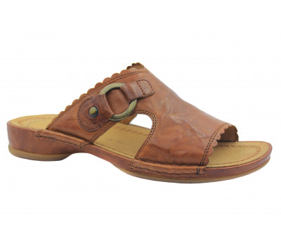 Сабо Gabor коричневые кожаные 82705
