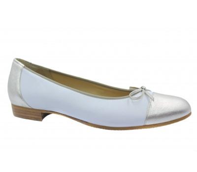 Балетки Hassia белые кожаные 1-301035