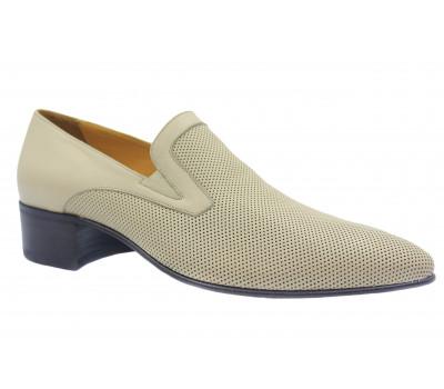 Туфли ROMIT кожаные бежевые 13641
