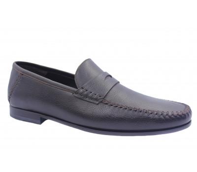 Туфли ROMIT кожаные коричневые 14481