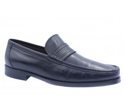 Демисезонные туфли ROMIT кожаные черные 1059