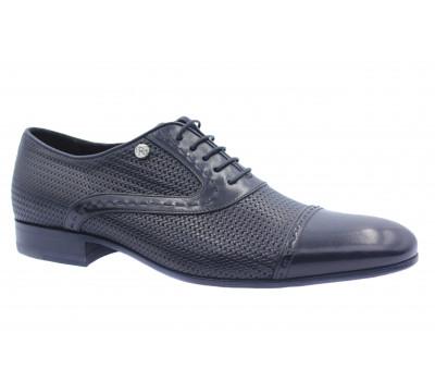 Туфли ROMIT кожаные черные 14428