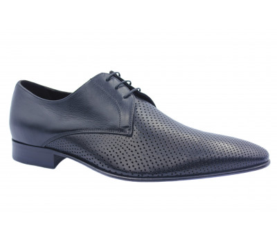 Туфли ROMIT кожаные черные 12080