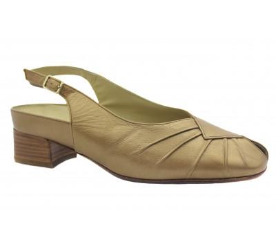 Босоножки Hassia кожаные бронзовые 5-303471