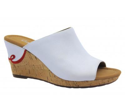 Сабо Gabor белые кожаные 22820