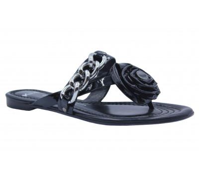 Сандалии K&S черные из лакированной кожи 10230-140