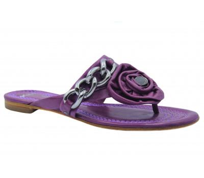 Сандалии K&S фиолетовые кожаные 10230-166