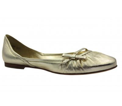 Балетки K&S кожаные золотые 13130-115