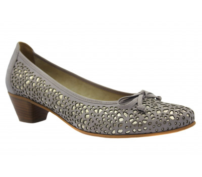 Туфли Gabor из нубука серо-розовые 41400.10