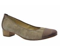 Туфли Hassia бежево-коричневые из крека