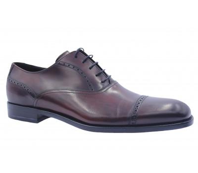 Туфли ROMIT кожаные бордовые 11143