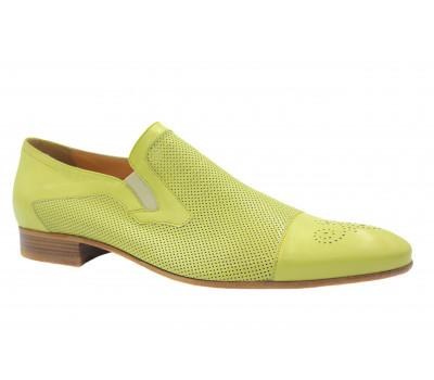 Туфли ROMIT кожаные лимонные 9232