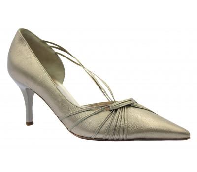 Модельные туфли Hogl кожаные золотисто- платиновые 5-107041
