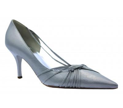 Модельные туфли Hogl кожаные серебряные 5-107041