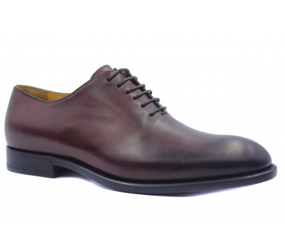 Туфли ROMIT HAND MADE кожаные бордовые 14759