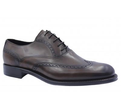 Туфли ROMIT кожаные темно-коричневые 11140