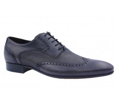 Туфли ROMIT кожаные серые 10423